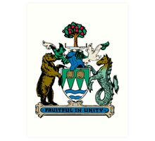 Kelowna Coat of Arms  Art Print