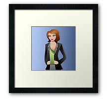 Business Woman Framed Print