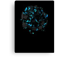 Exploding Blue Lava Canvas Print