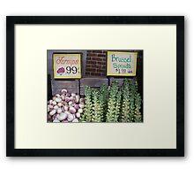 eat your veggies Framed Print