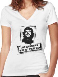 che lebowski Women's Fitted V-Neck T-Shirt
