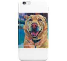 Chelsea the yellow lab dog iPhone Case/Skin