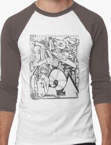 Blackbook Sketching Men's Baseball ¾ T-Shirt