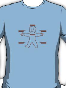 Vault Boy - T-Shirt/Sticker (Dark Red) T-Shirt