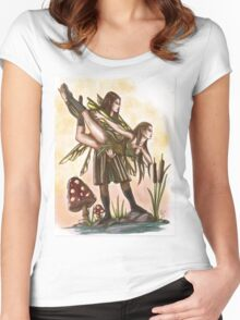 Faeries Take Flight Couples Dance Women's Fitted Scoop T-Shirt