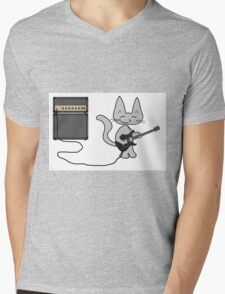 "Rock ""n"" Roll Kitty  Mens V-Neck T-Shirt"