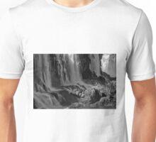 Iguazu Falls in Monochrome Unisex T-Shirt