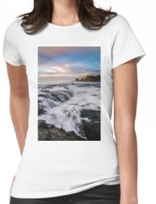 Muriwai Beach at sunset Womens Fitted T-Shirt