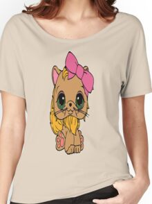 Cat with a Pink Bow Women's Relaxed Fit T-Shirt