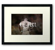New York Yankee Derek Jeter Respect Print Framed Print