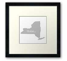 New York Home Tee Framed Print