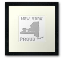 New York Proud Home Tee Framed Print