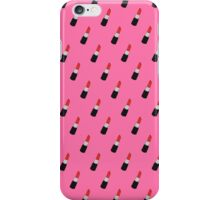 red lipstick forever pattern iPhone Case/Skin