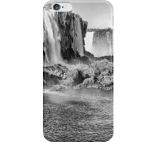 Iguazu Falls - a wider view - in monochrome iPhone Case/Skin