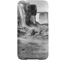Iguazu Falls - a wider view - in monochrome Samsung Galaxy Case/Skin
