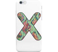 Letter Series - x (flower palette) iPhone Case/Skin
