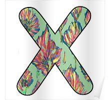 Letter Series - x (flower palette) Poster