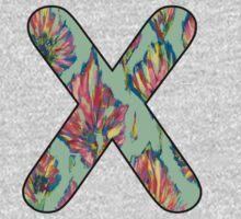 Letter Series - x (flower palette) One Piece - Long Sleeve