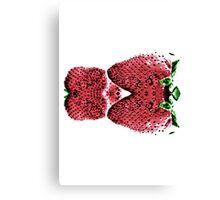 Neon  Strawberry / Fraises Neon Canvas Print
