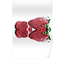 Neon  Strawberry / Fraises Neon Poster