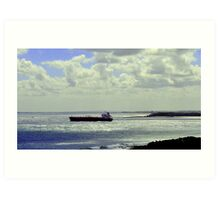 Port Phillip Heads from Point Nepean Art Print