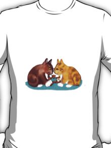 Nose to Nose over the Teddy Bear T-Shirt
