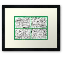 Colouring canvas for adults Framed Print