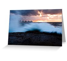 Container Ship Seascape Greeting Card