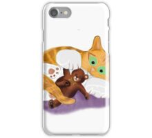 Bow Tie Teddy Hugged by Kitten iPhone Case/Skin