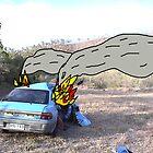 burning car prop by simonpericich