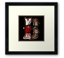 Sepia Boston Red Sox Logo with the Letter B Framed Print