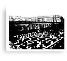 Black Versailles White Canvas Print