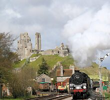 80104 leaving Corfe Castle by Iain Laing