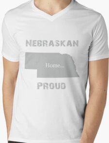 Nebraska Proud Home Tee Mens V-Neck T-Shirt