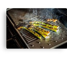 Griddled Asparagus Canvas Print