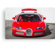 Red Bugatti Veyron Canvas Print
