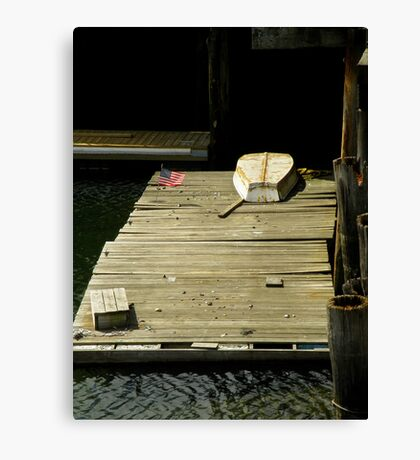 Patriotic Deck Canvas Print