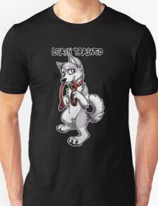 Leash Trained - Gray Husky T-Shirt