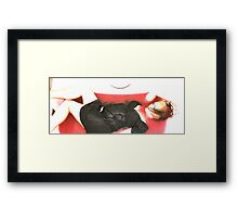 Dead in the bath blood loss... 2 Framed Print