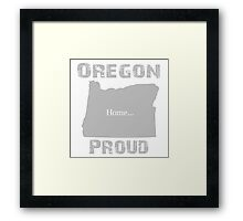 Oregon Proud Home Tee Framed Print