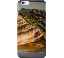 Grilled Asparagus With Oriental Steamed Salmon iPhone Case/Skin
