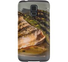 Grilled Asparagus With Oriental Steamed Salmon Samsung Galaxy Case/Skin