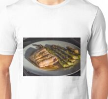 Grilled Asparagus With Oriental Steamed Salmon Unisex T-Shirt