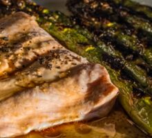 Grilled Asparagus With Oriental Steamed Salmon Sticker