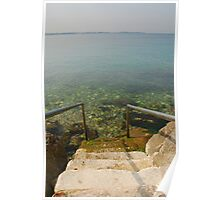 Steps Leading Down into Water Poster