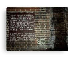 Streets of Abandonment Canvas Print