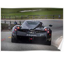 Carbon Fiber Pagani Huayra Rear Poster