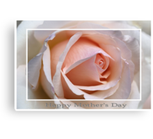 Happy Mother's Day Rose Canvas Print