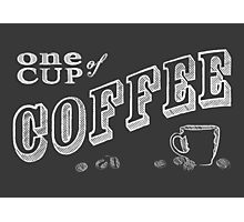 one cup of coffee Photographic Print