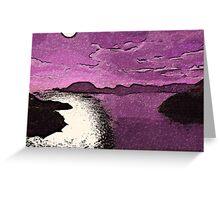 Purple Moonlight Greeting Card